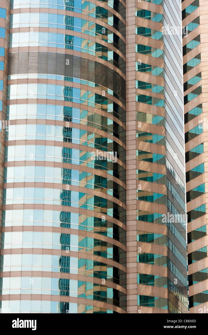 Großen Wolkenkratzer Büroturm in Exchange Square Hong Kong Insel Hong Kong China Asien Stockbild