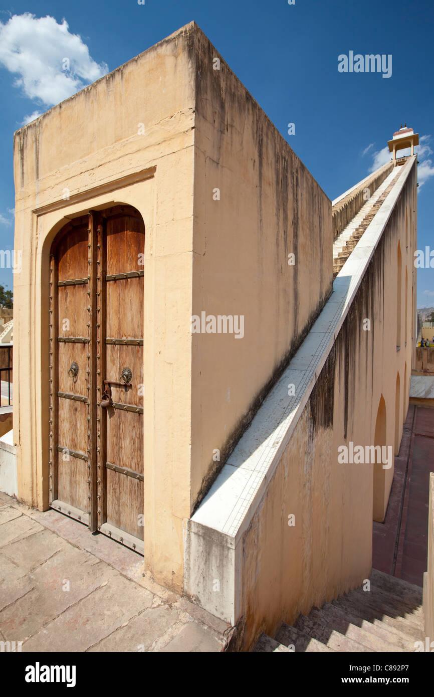 Das Observatorium in Jaipur, Rajasthan, Indien Stockbild