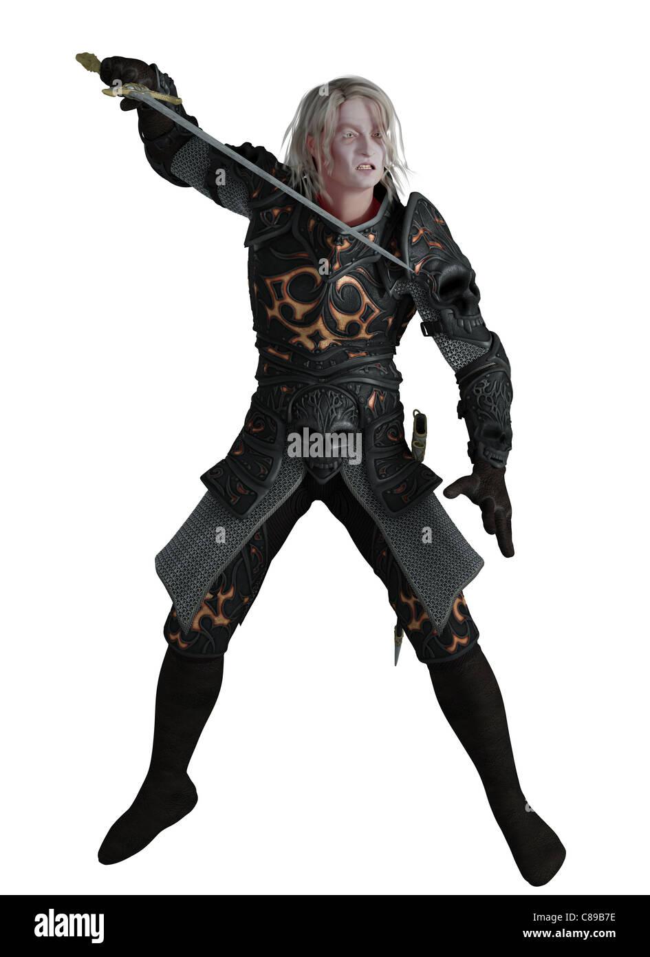 Dark Lord kämpfen Stockbild