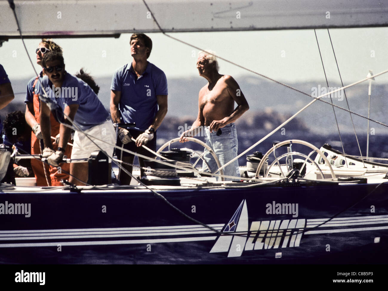 Gianni Agnelli, 1983 Stockbild