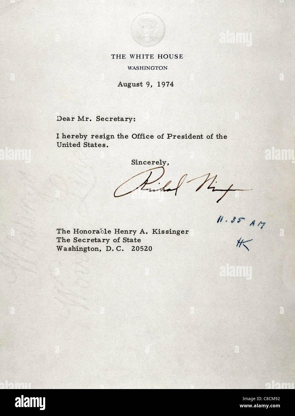 Richard Nixon 1913 1994 37 Präsidenten Der Usa Kündigungsbrief