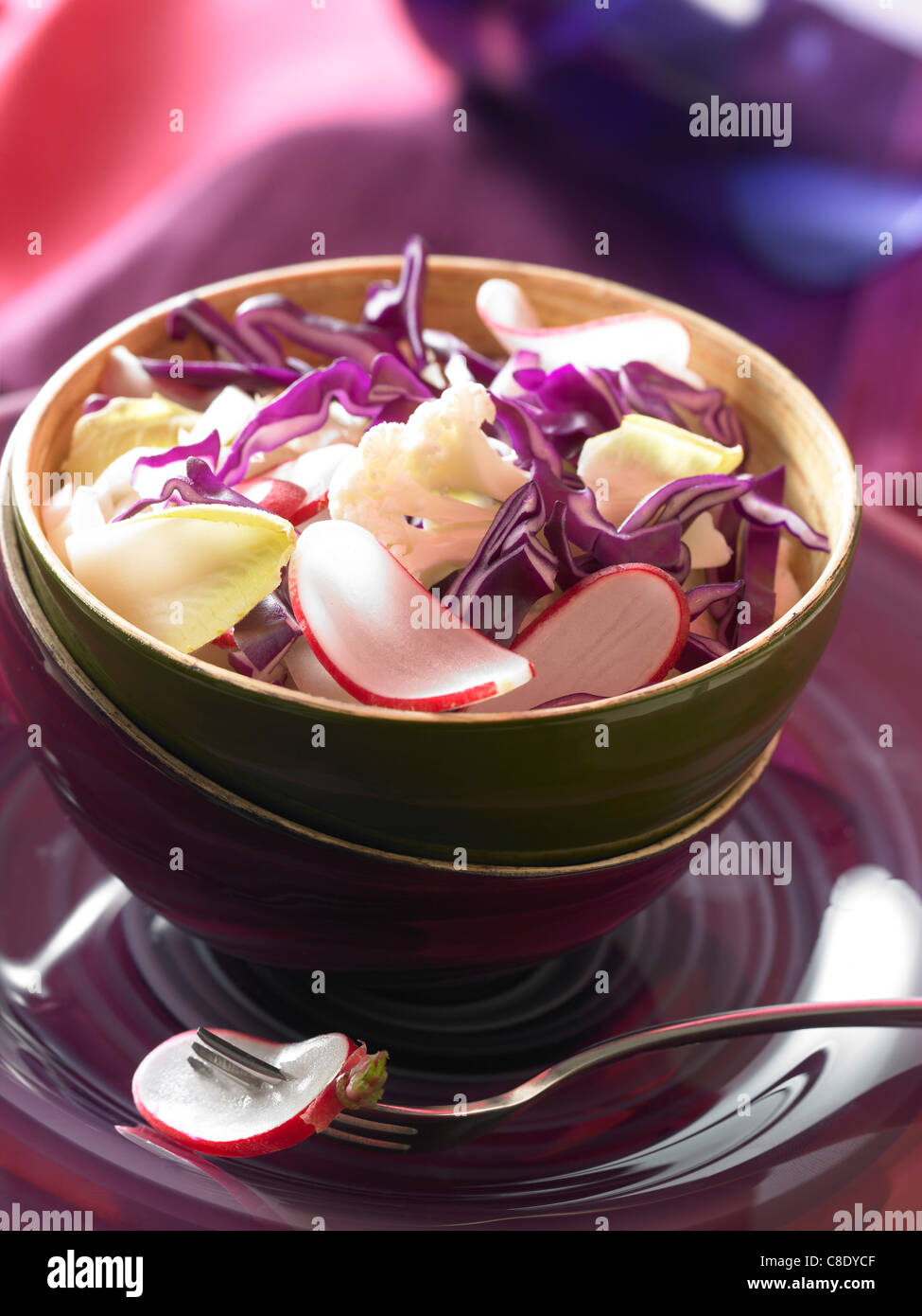 Knackig, gemischter Salat Stockbild
