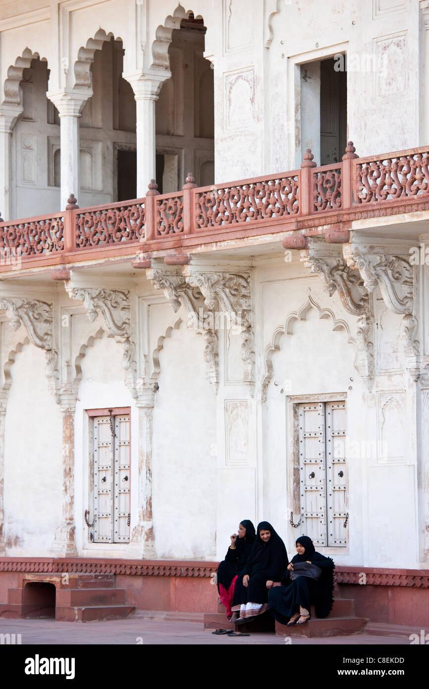 17 Jahrhundert Bild Architektur: Muslimische Familiengruppe Khas Mahal Palace Gebaut 17