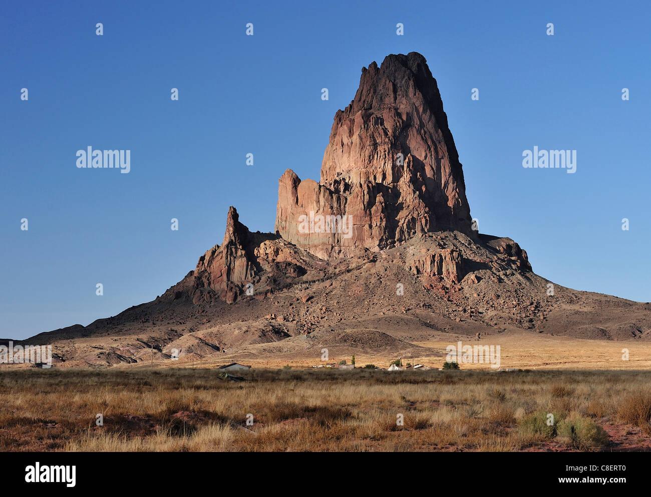 Vulkangestein, in der Nähe von Kayenta, Navajo, Indianer-Reservat in der Nähe von Monument Valley, Arizona, Stockbild