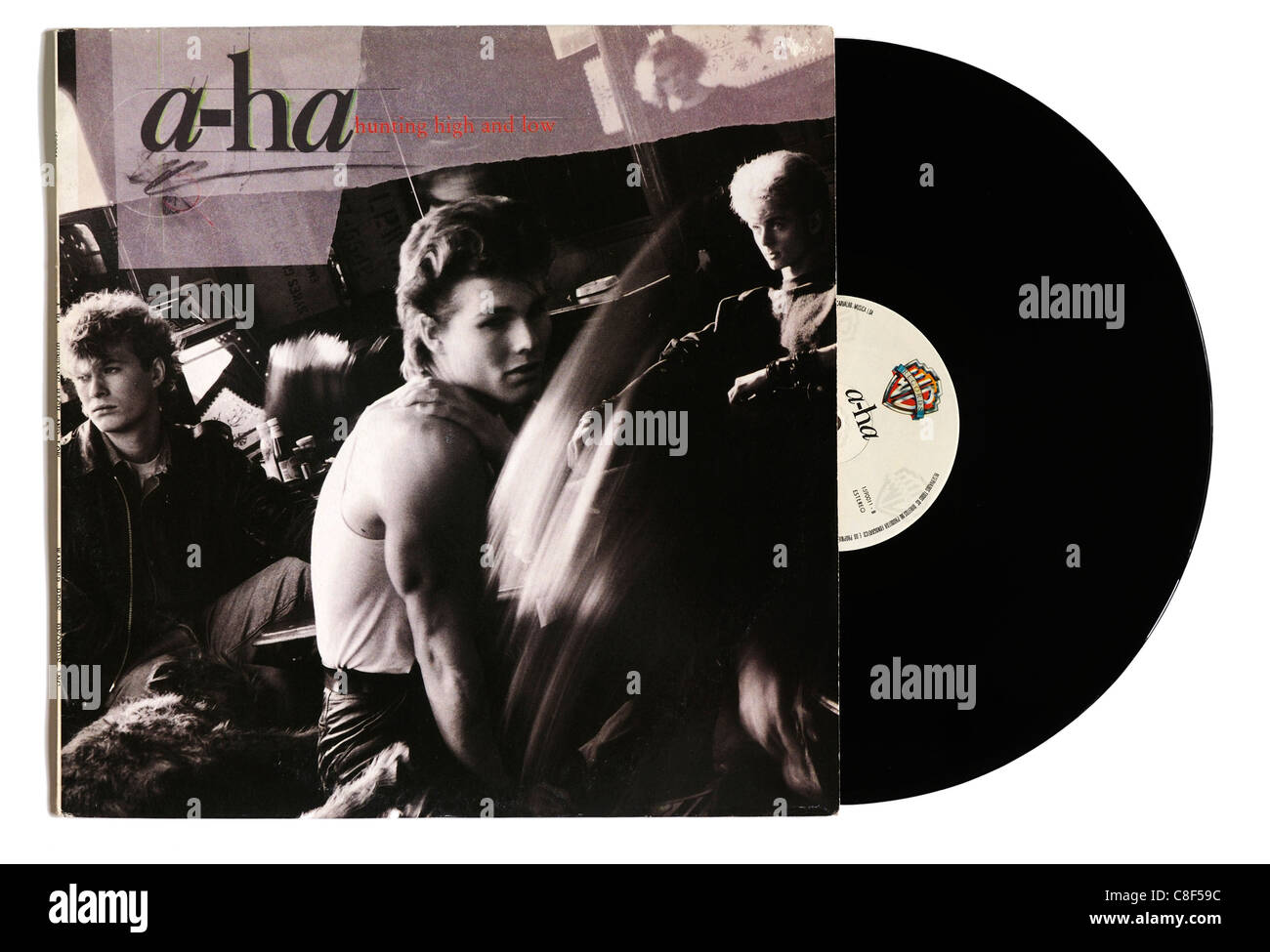 A-ha Jagd High und Low-album Stockbild