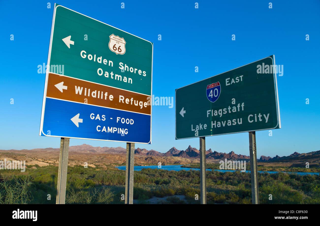 vereinigte staaten von amerika arizona stra enschild auf der route 66 in der n he von der grenze. Black Bedroom Furniture Sets. Home Design Ideas