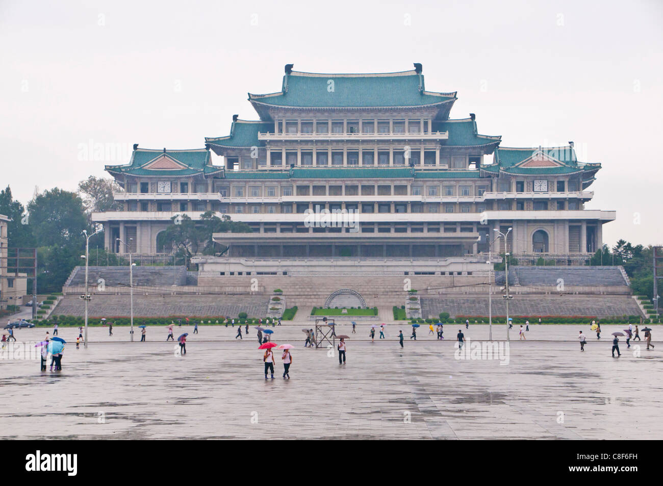 Völker Palace of Studies, Pyongyang, Nordkorea Stockbild