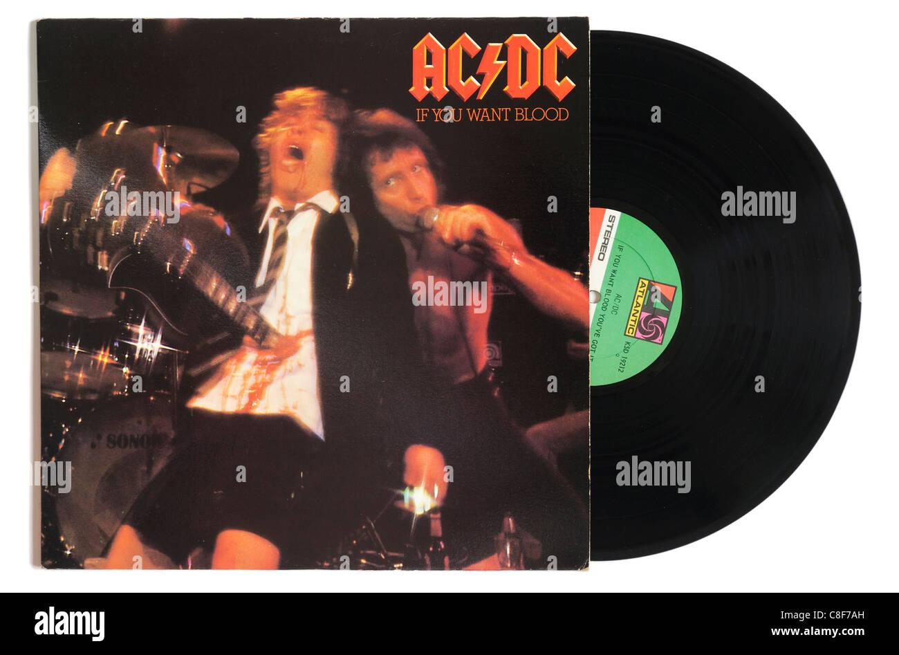 Wenn Sie wollen Blut-AC/DC-album Stockbild