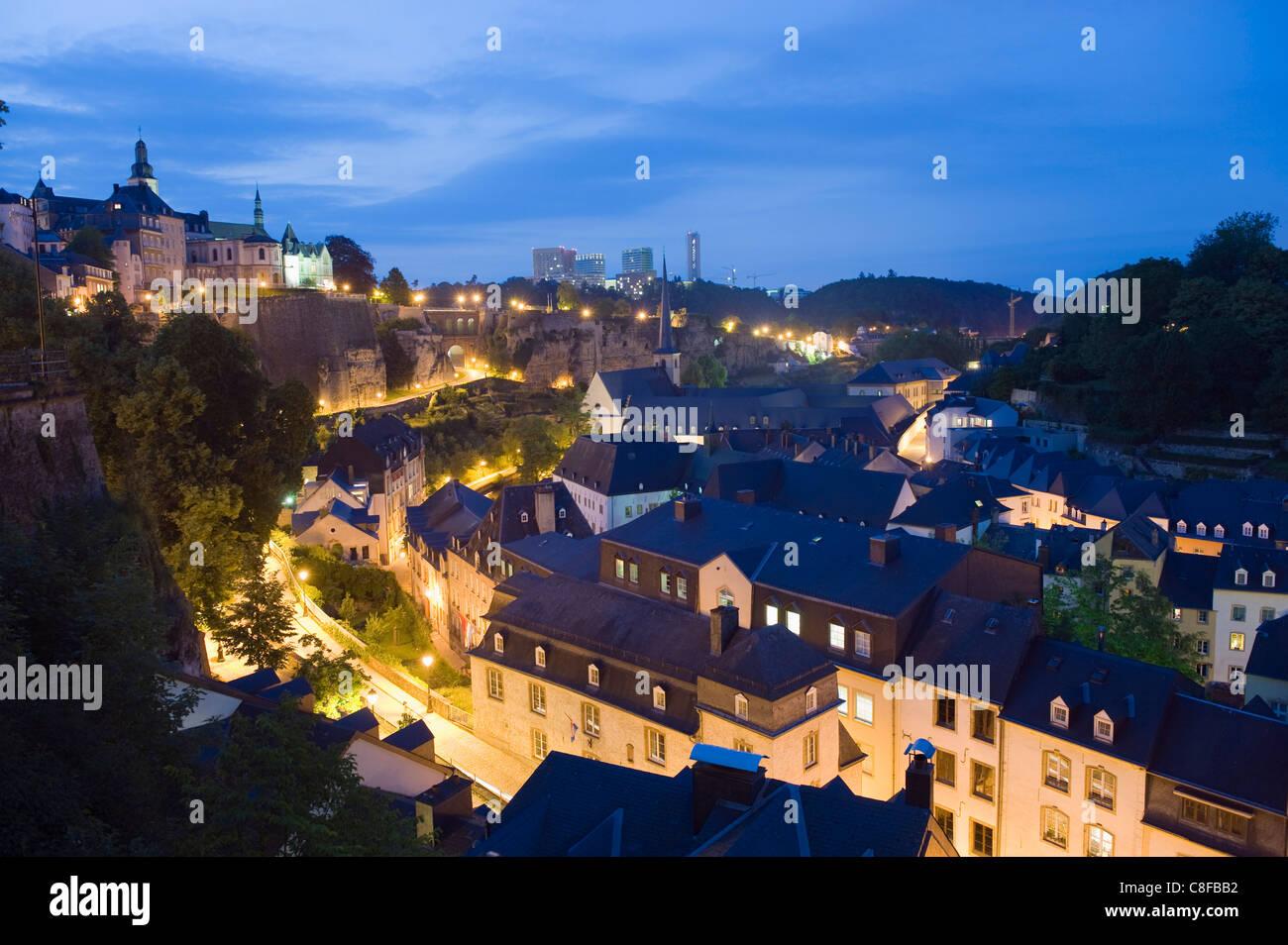 Altstadt, UNESCO World Heritage Site, Luxemburg-Stadt Grand-Duché de Luxembourg Stockbild