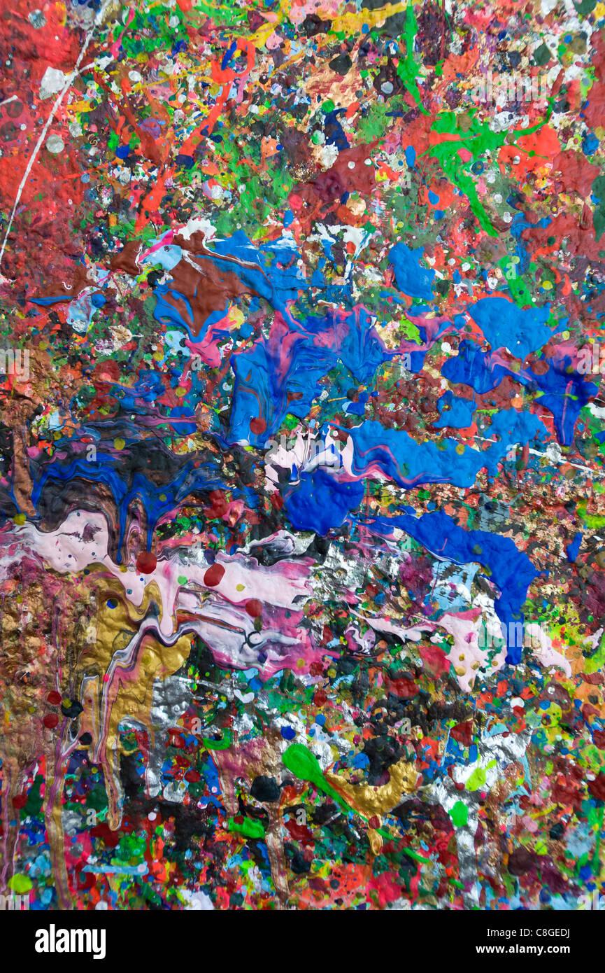 Malen Sie Flecken an der Wand Kapstadt Südafrika Stockbild