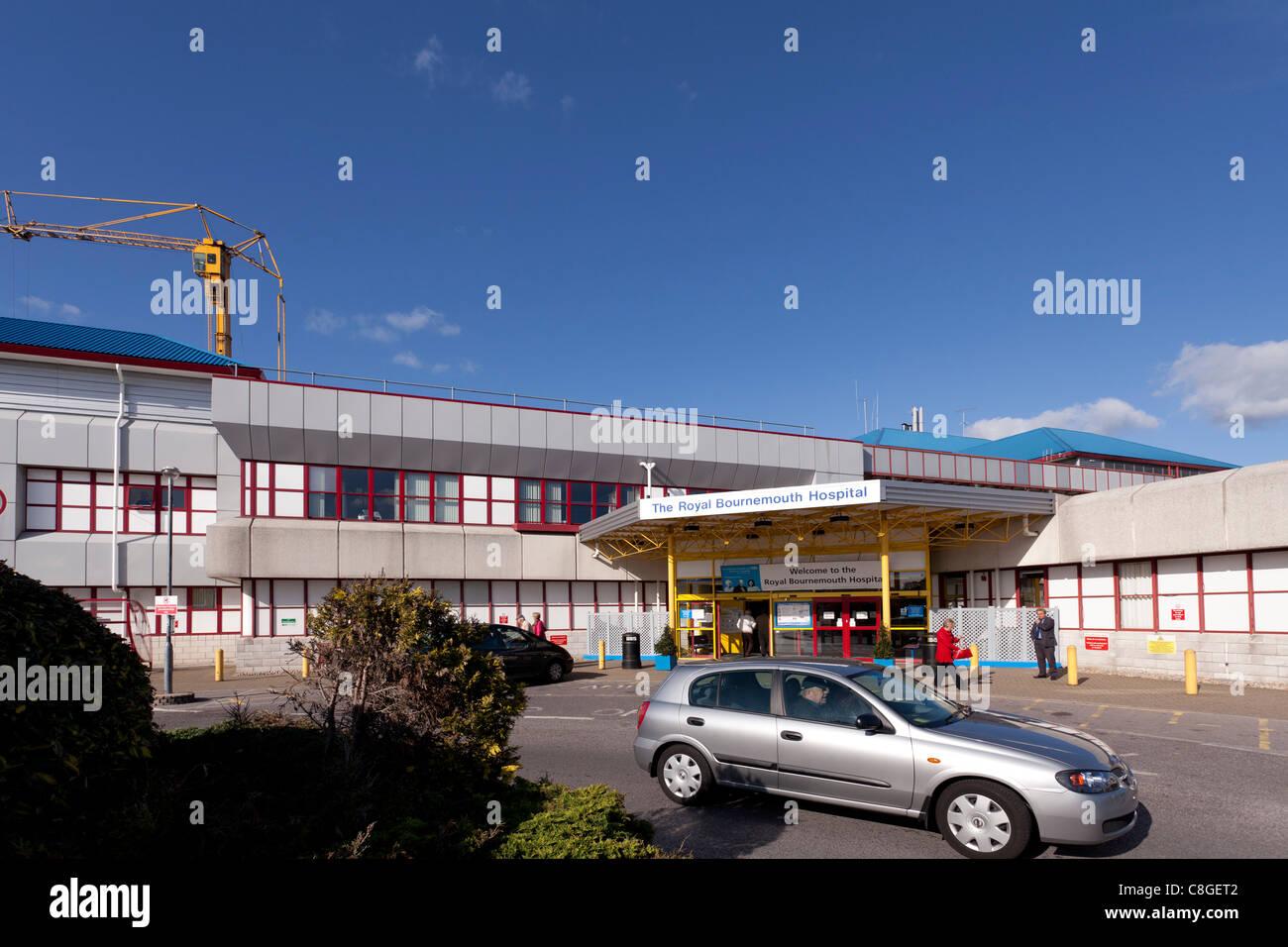 Royal Bournemouth Hospital Haupteingang Stockbild