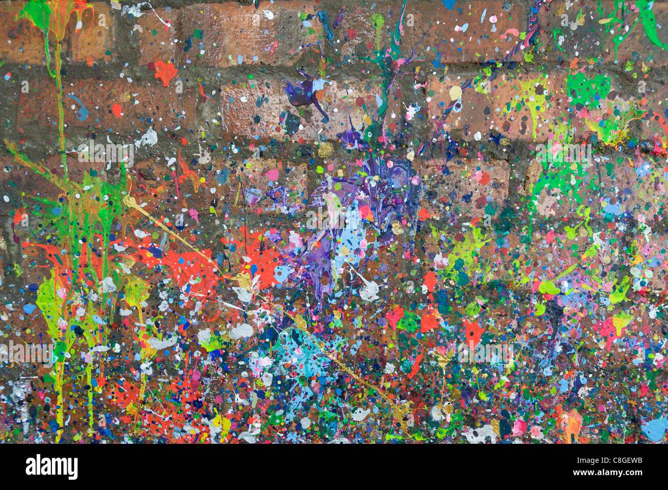 Malen Sie Flecken auf einer gemauerten Wand Cape Town-Südafrika Stockbild