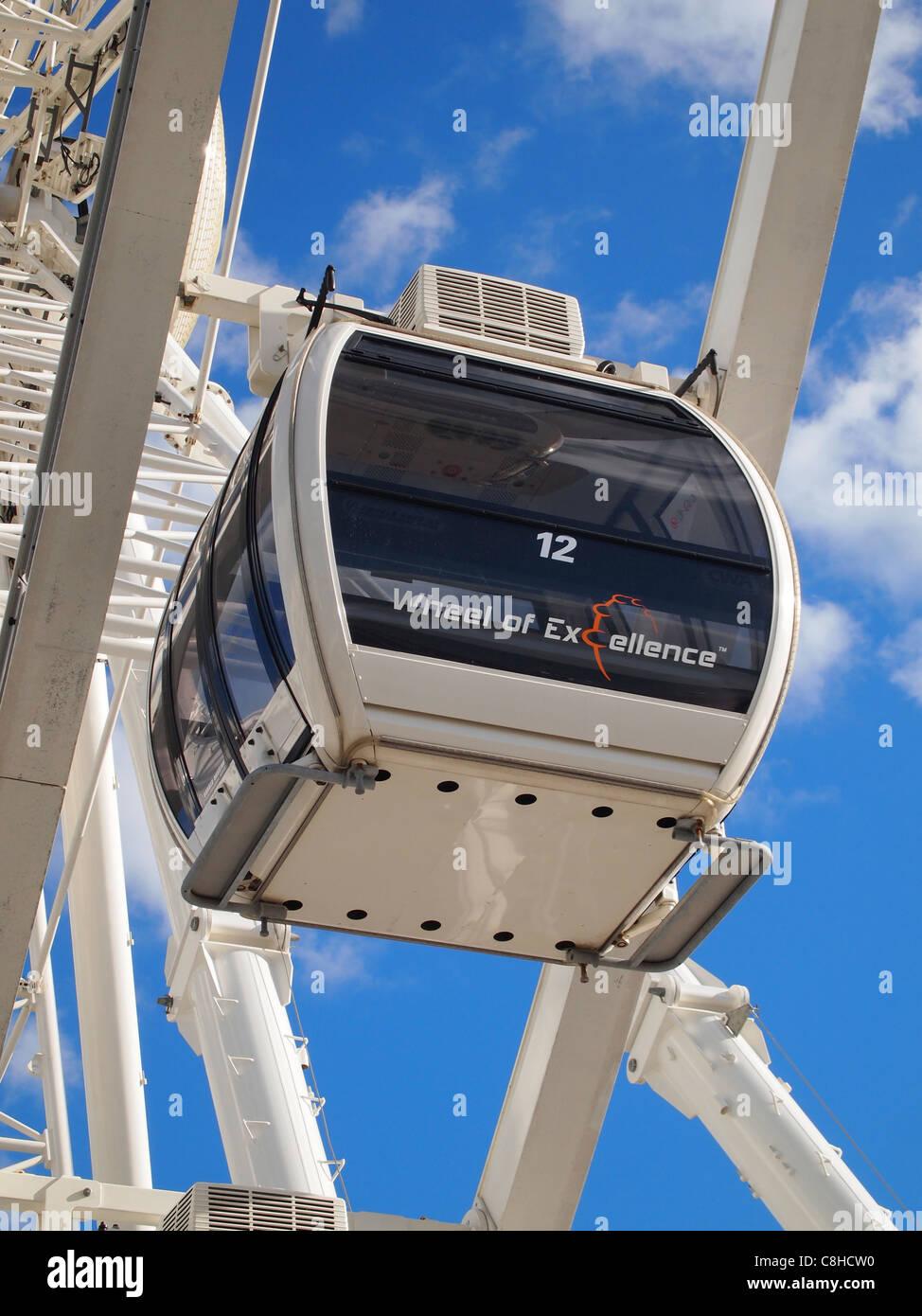 """Gondel auf der Brighton Rad - auch bekannt als """"The Wheel of Excellence"""" - eine neue Attraktion auf der Stockbild"""