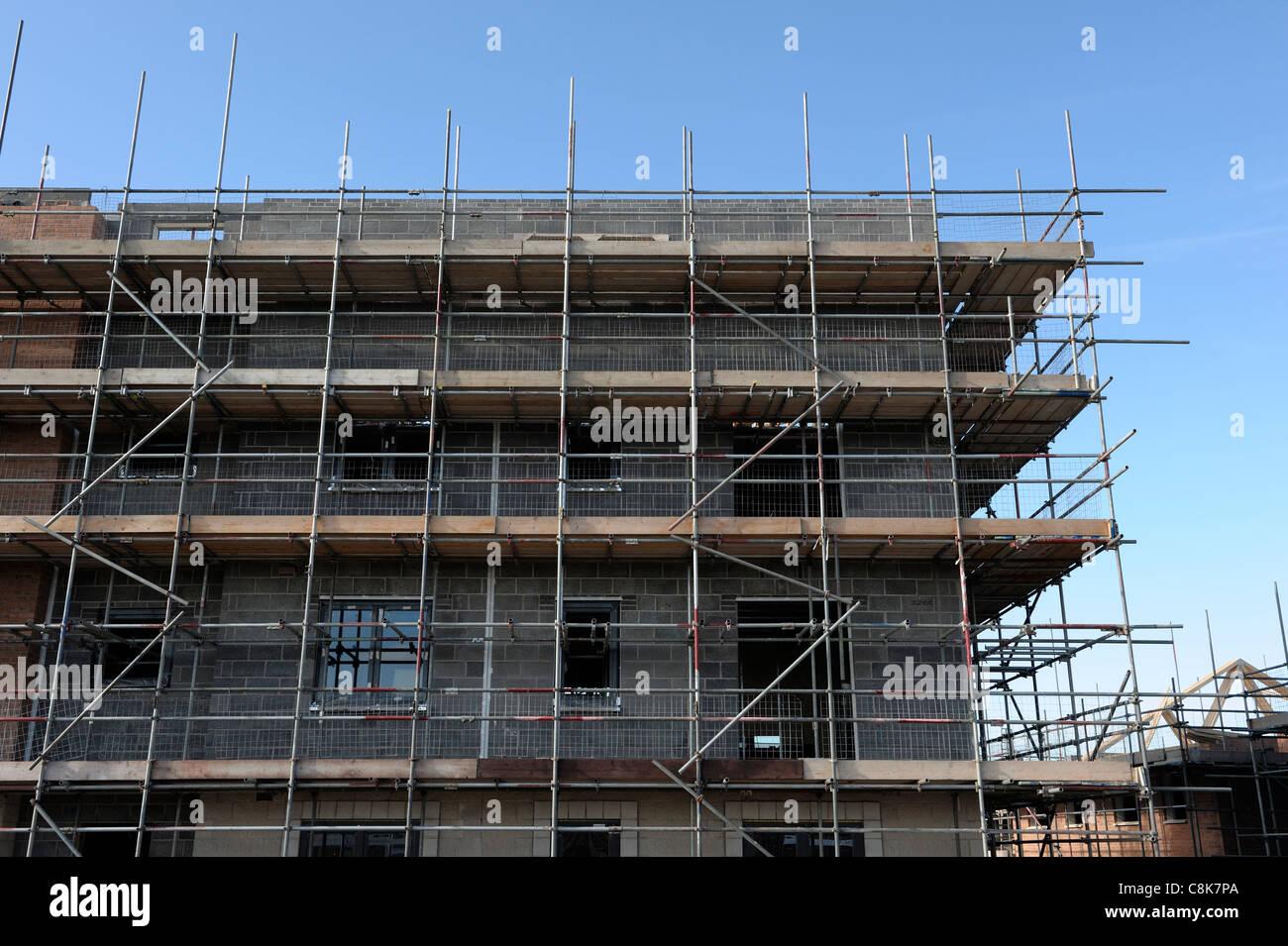 Gerüst auf einer Baustelle Stockbild