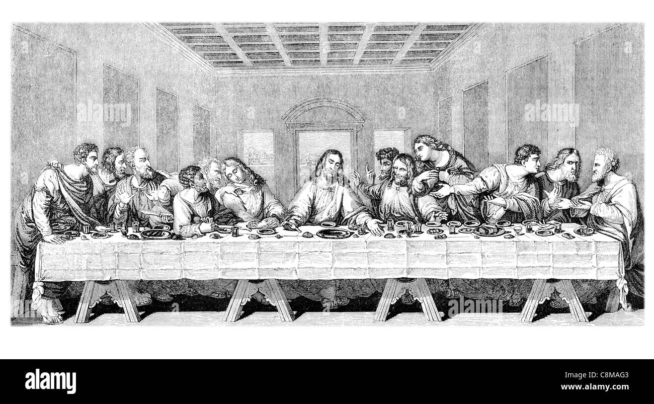 hand drawing illustration last supper stockfotos hand drawing illustration last supper bilder. Black Bedroom Furniture Sets. Home Design Ideas