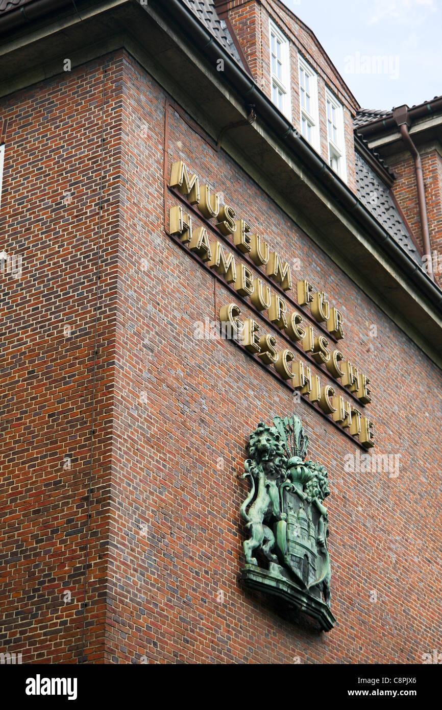 """Blick auf das """"Museum Für Hamburgische Geschichte"""" in Hamburg, Deutschland Stockbild"""