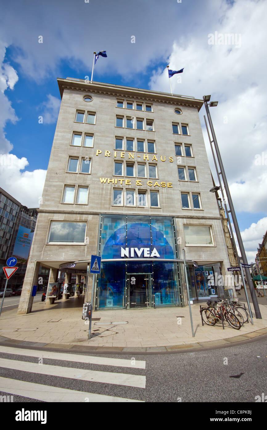 Blick auf das Nivea Haus in Hamburg Deutschland Stockfoto