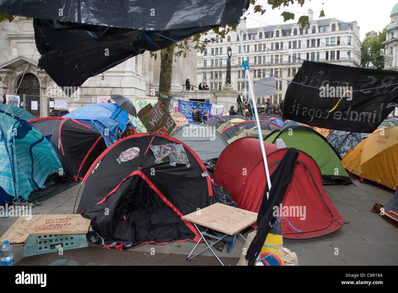 Demonstranten Zelt Lager besetzen das Gebiet rund um St. Paul ...