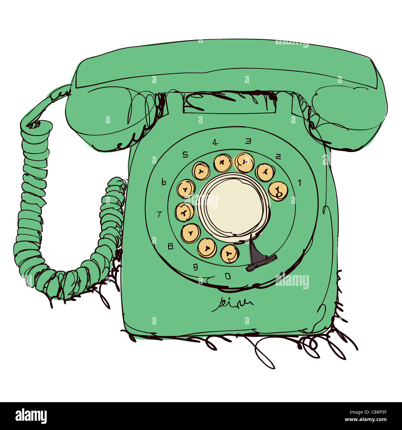 Retro Telefon Stockbild