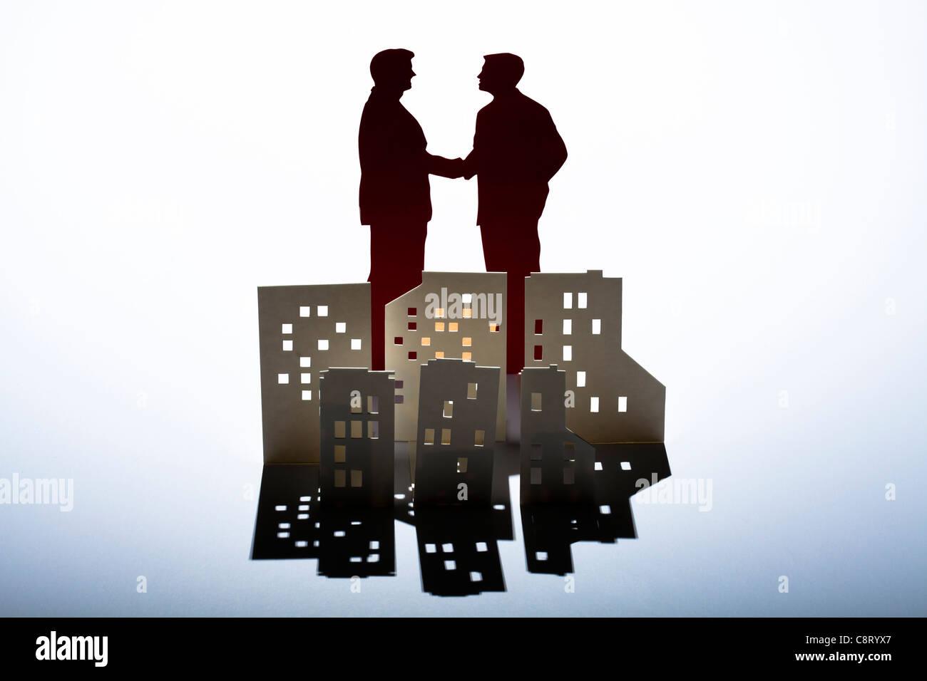 Konzept der Partnerschaft und Erfolg Stockbild