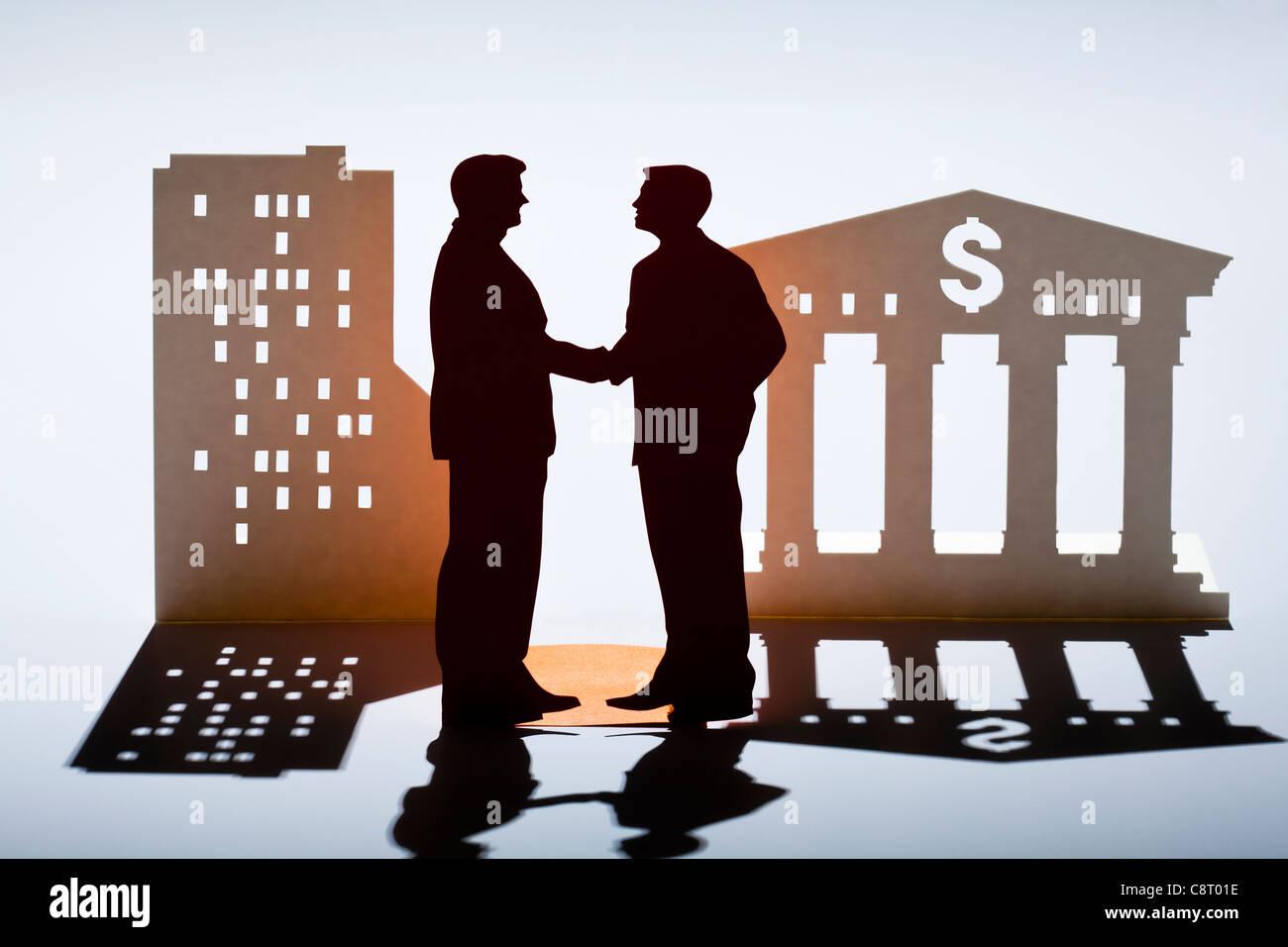Konzept der Partnerschaft und des Wachstums Stockbild