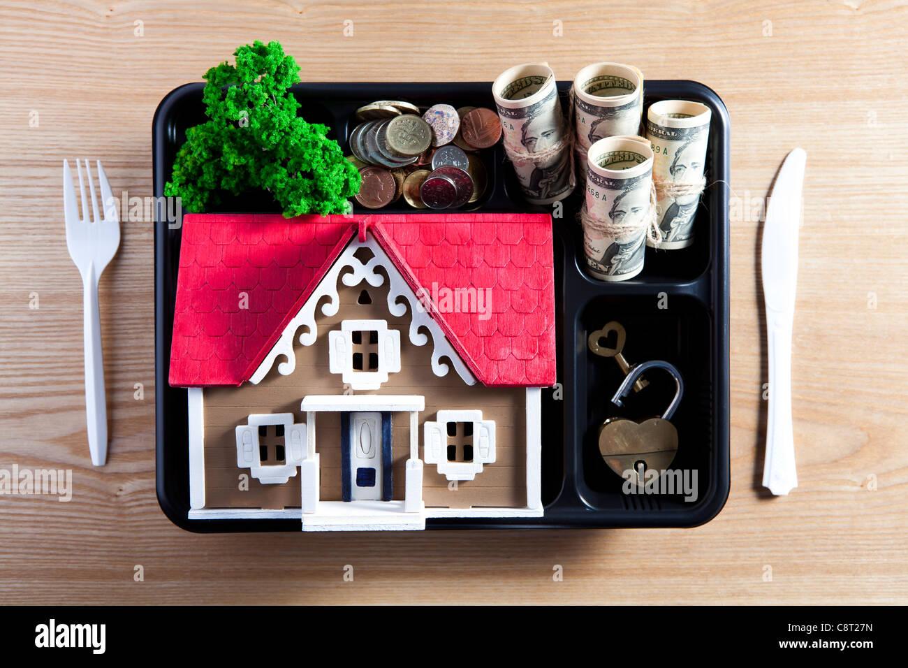 Konzept des Wohneigentums Stockbild