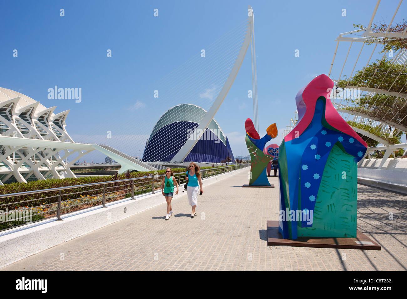 Stadt der Künste und Wissenschaften. Valencia, Spanien. Stockbild