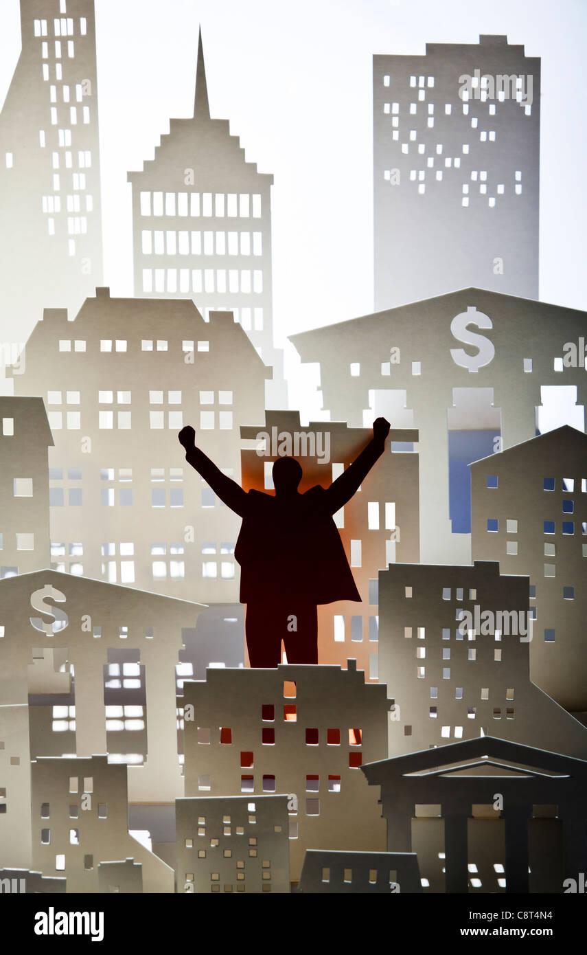 Konzept von macht und Wohlstand Stockbild