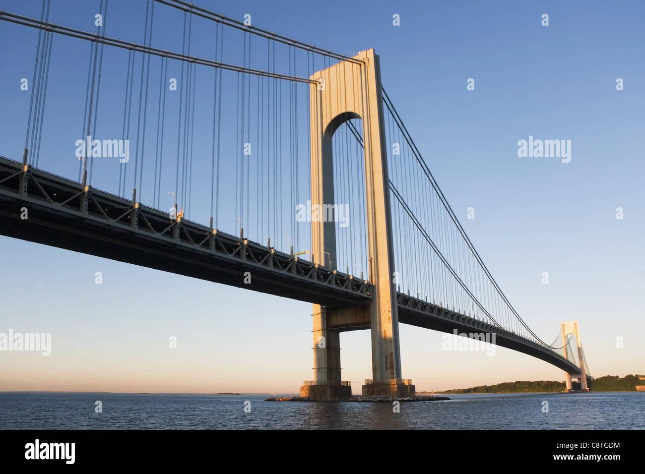 USA, Staat New York, New York City, Manhattan, Verrazano-Narrows Bridge Stockbild