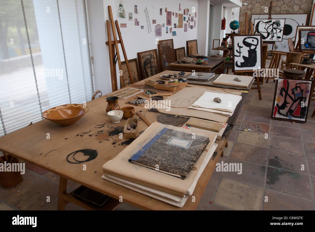 mallorca mallorca balearen spanien miro stiftung museum innen atelier k nstler atelier malen. Black Bedroom Furniture Sets. Home Design Ideas