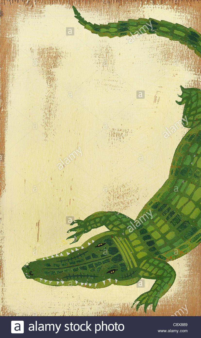 Kriechende Krokodil Stockbild