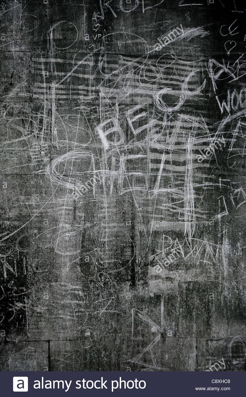 Kreide graffiti Stockbild