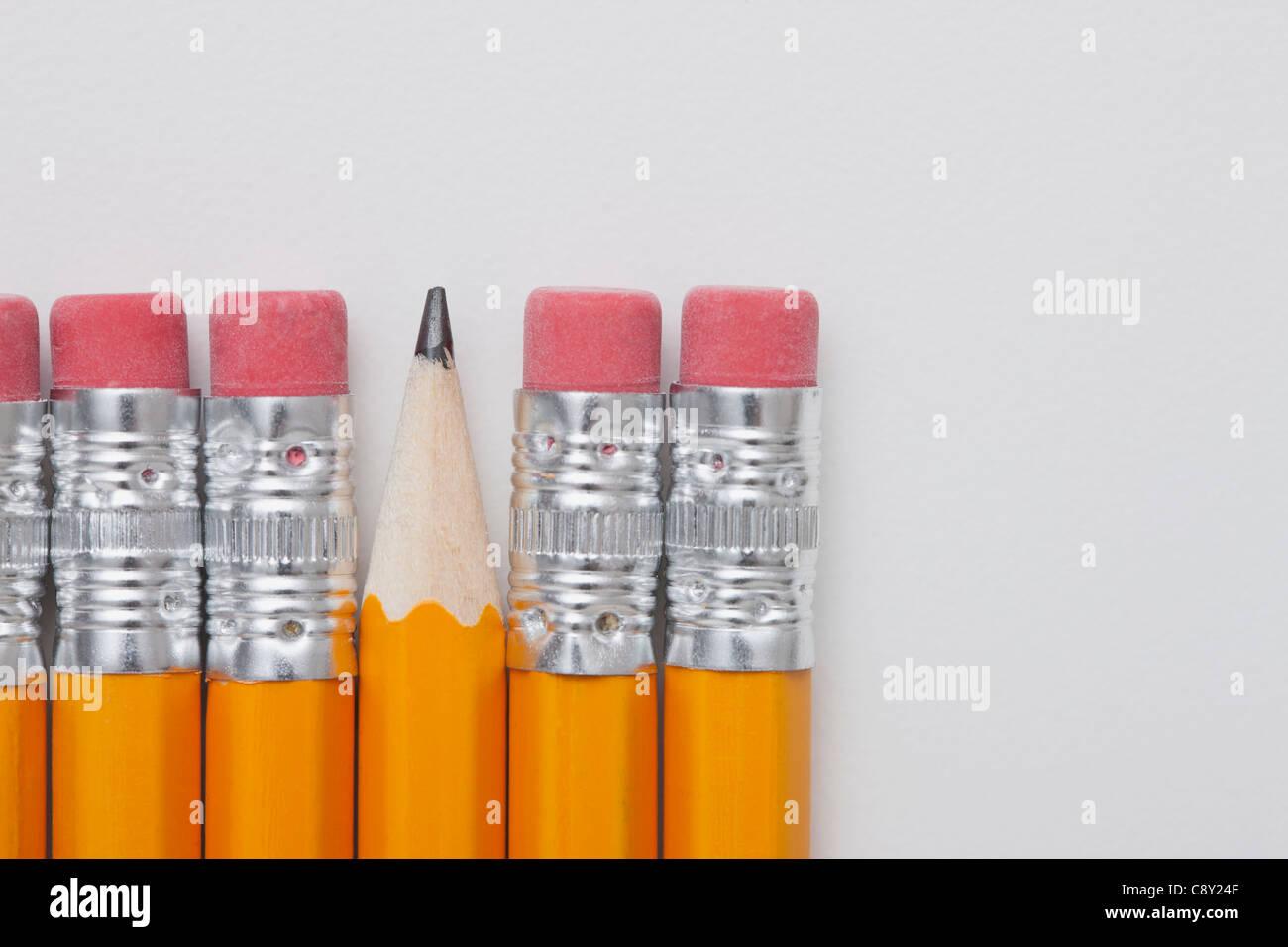 Studioaufnahme von Bleistiften Stockbild