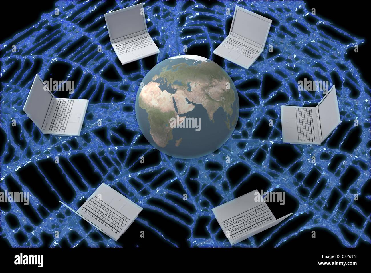 World Wide Web-Konzept Stockbild