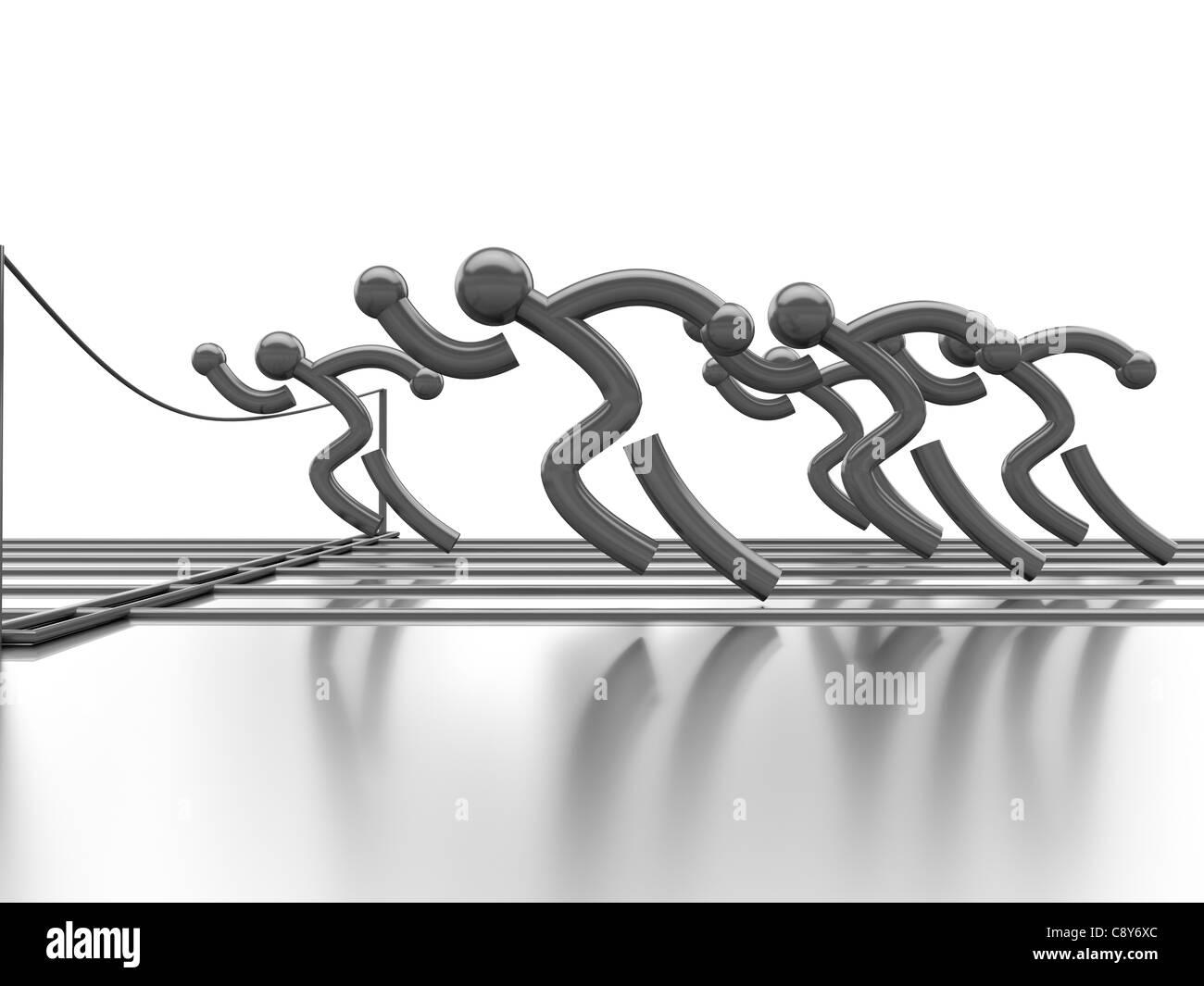 Leichtathletik-Wettbewerb Stockbild