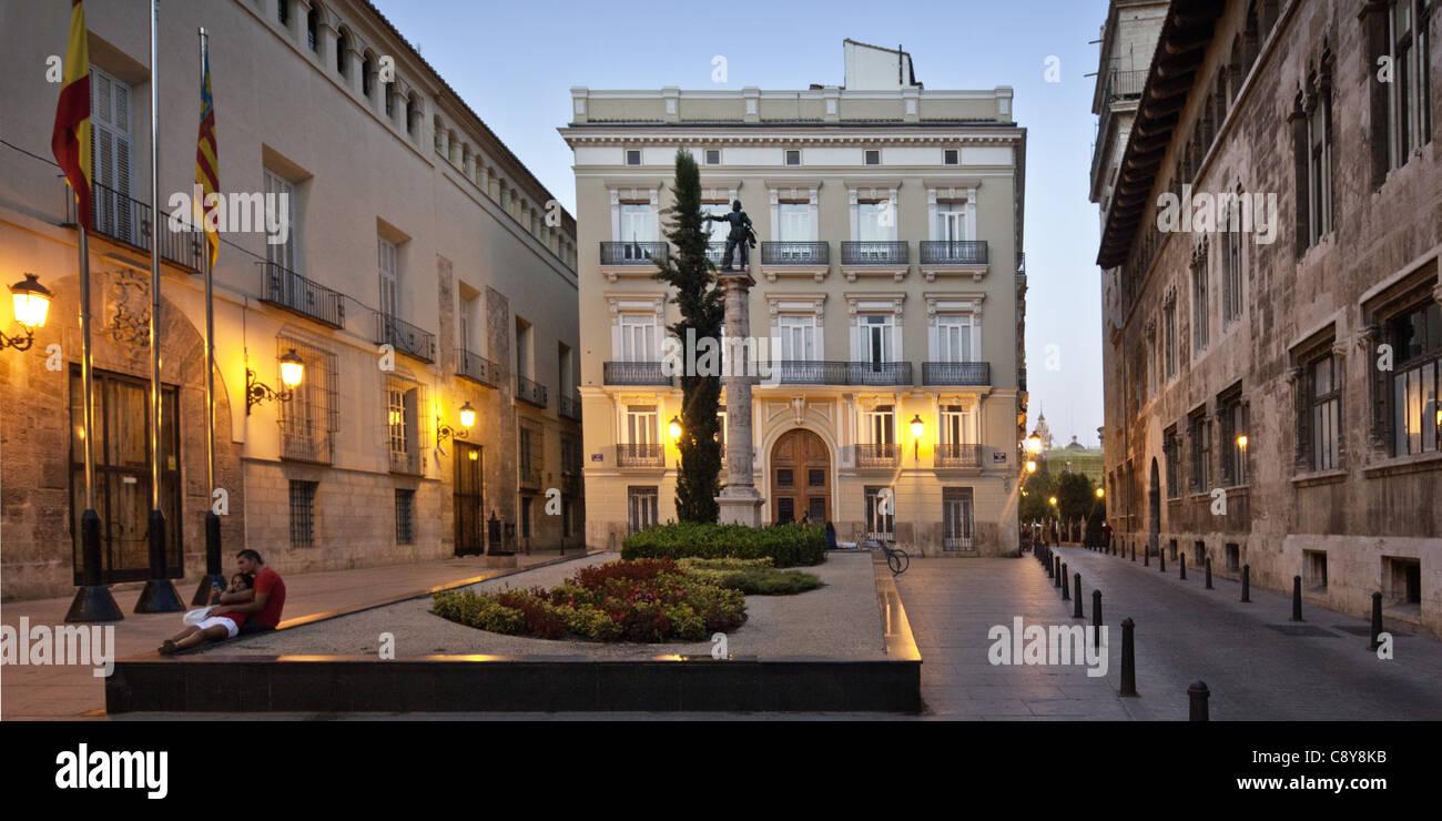 Sitz der Regierung am Plaza de vom im alten Stadtzentrum von Valencia, Spanien Stockbild