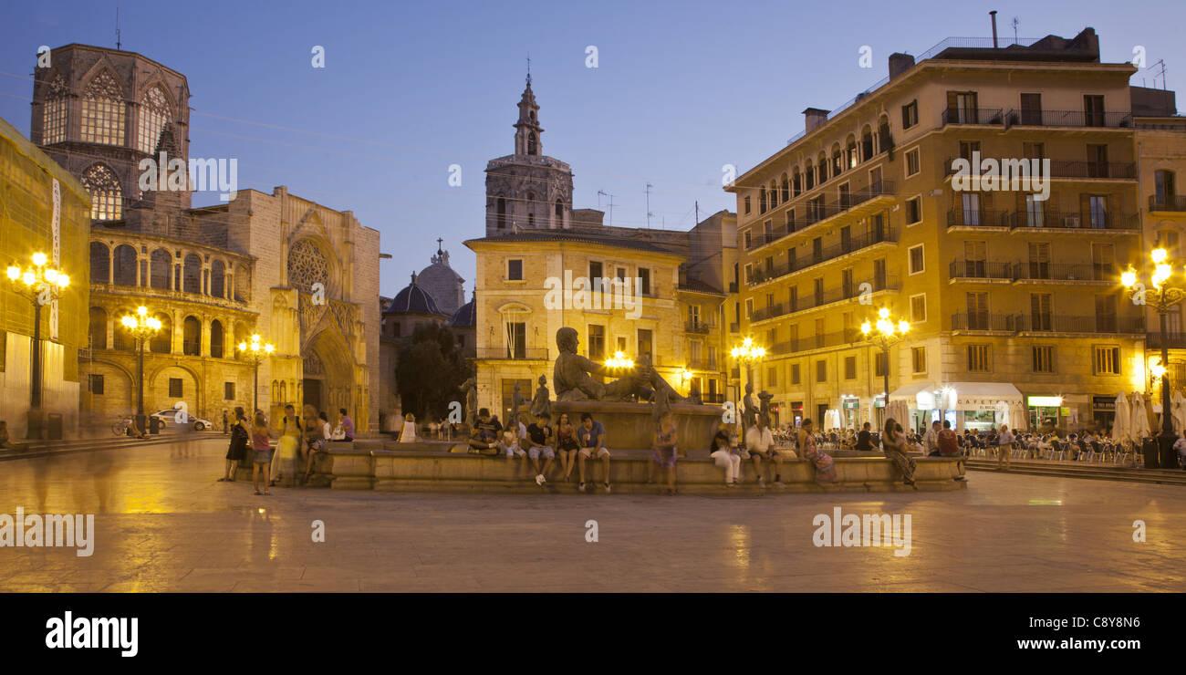 Plaza De La Virgin, Valencia, Spanien Stockbild