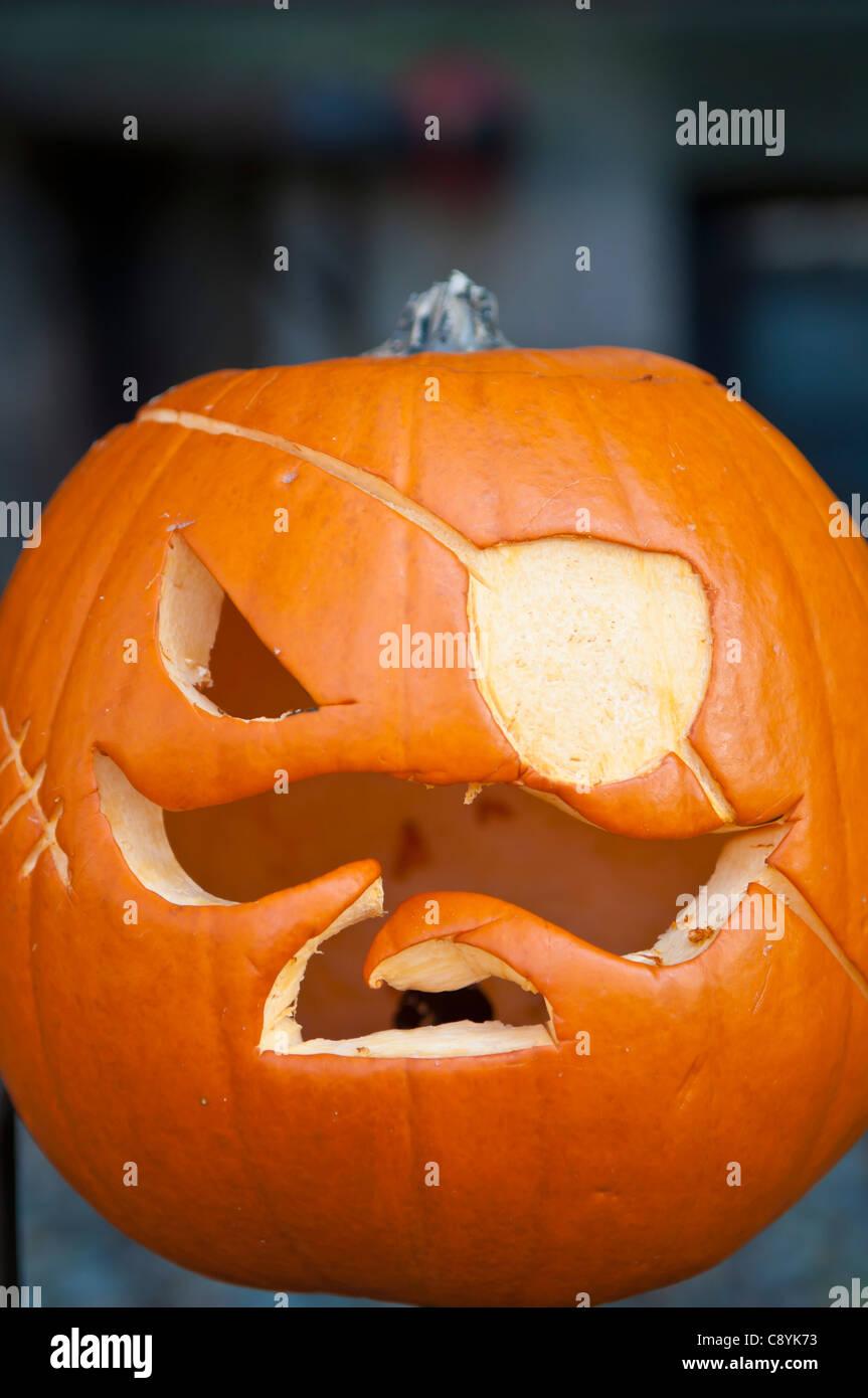 Kuerbis Schnitzen Pirat.Scary Kurbis Geschnitzt Als Pirat Halloween Stockfotografie Alamy