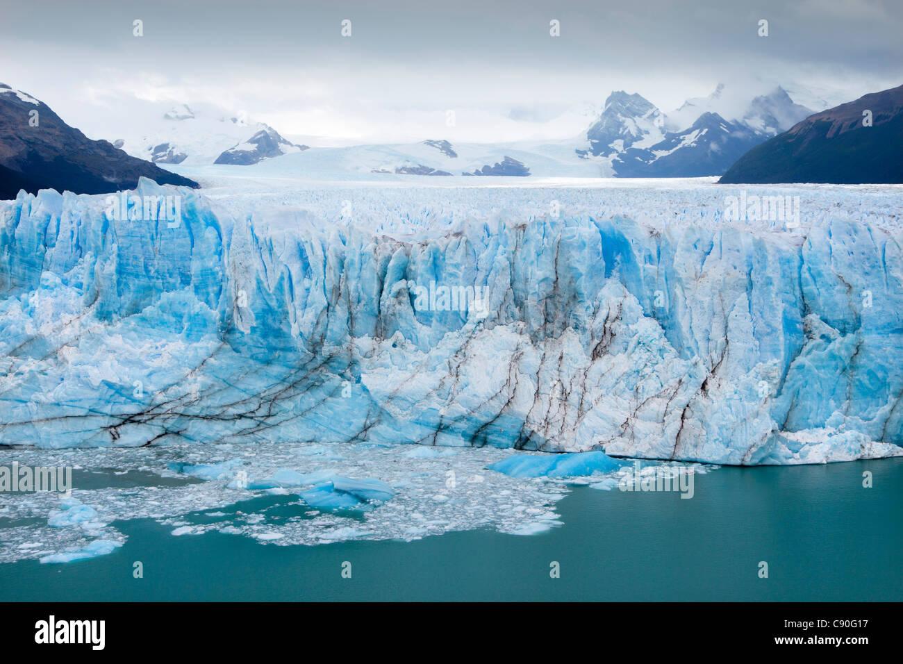 Perito Moreno-Gletscher, Lago Argentino, Nationalpark Los Glaciares, in der Nähe von El Calafate in Patagonien, Stockbild