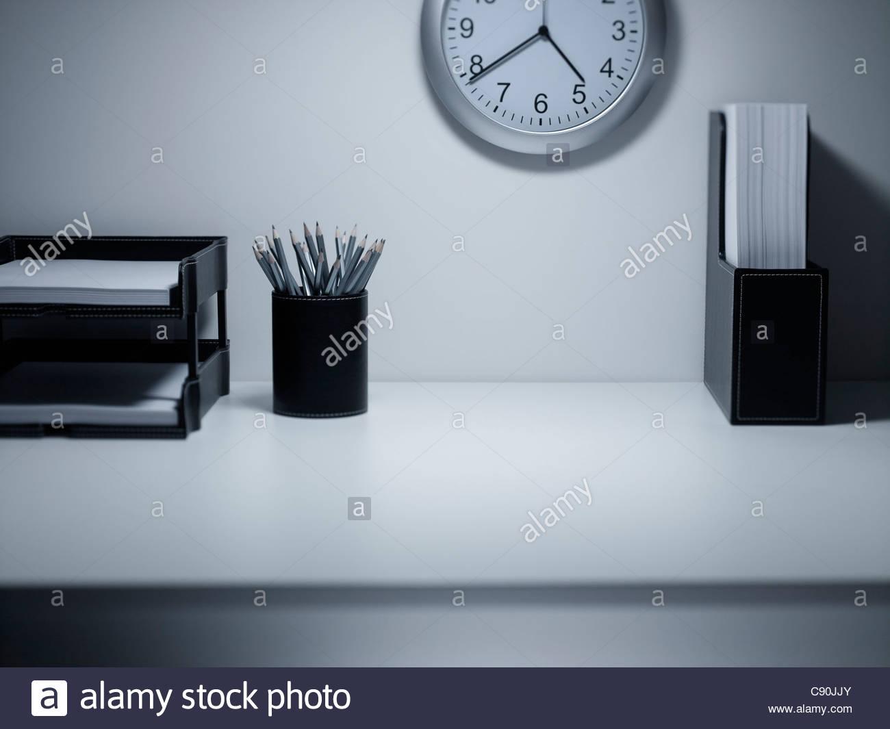 Leeren Schreibtisch Stockbild