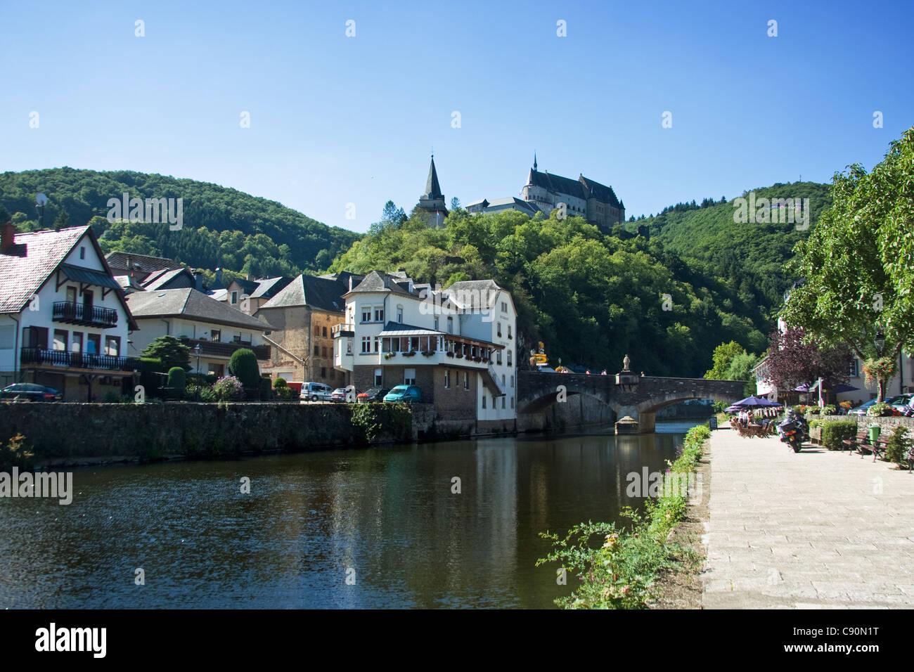 Vianden-Luxemburg Stockbild