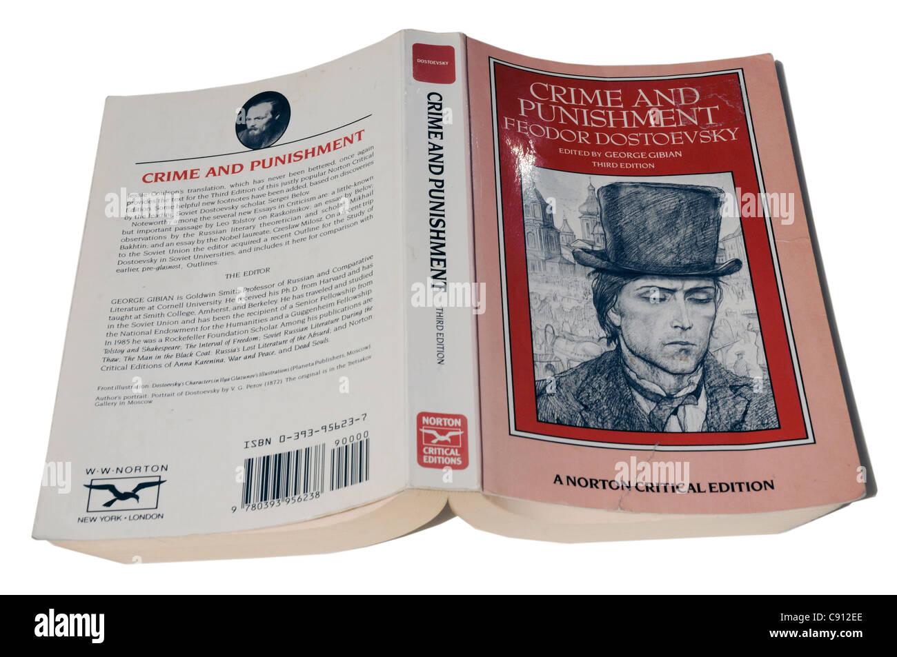 Verbrechen und Strafe von Feodor Dostojewski Stockbild