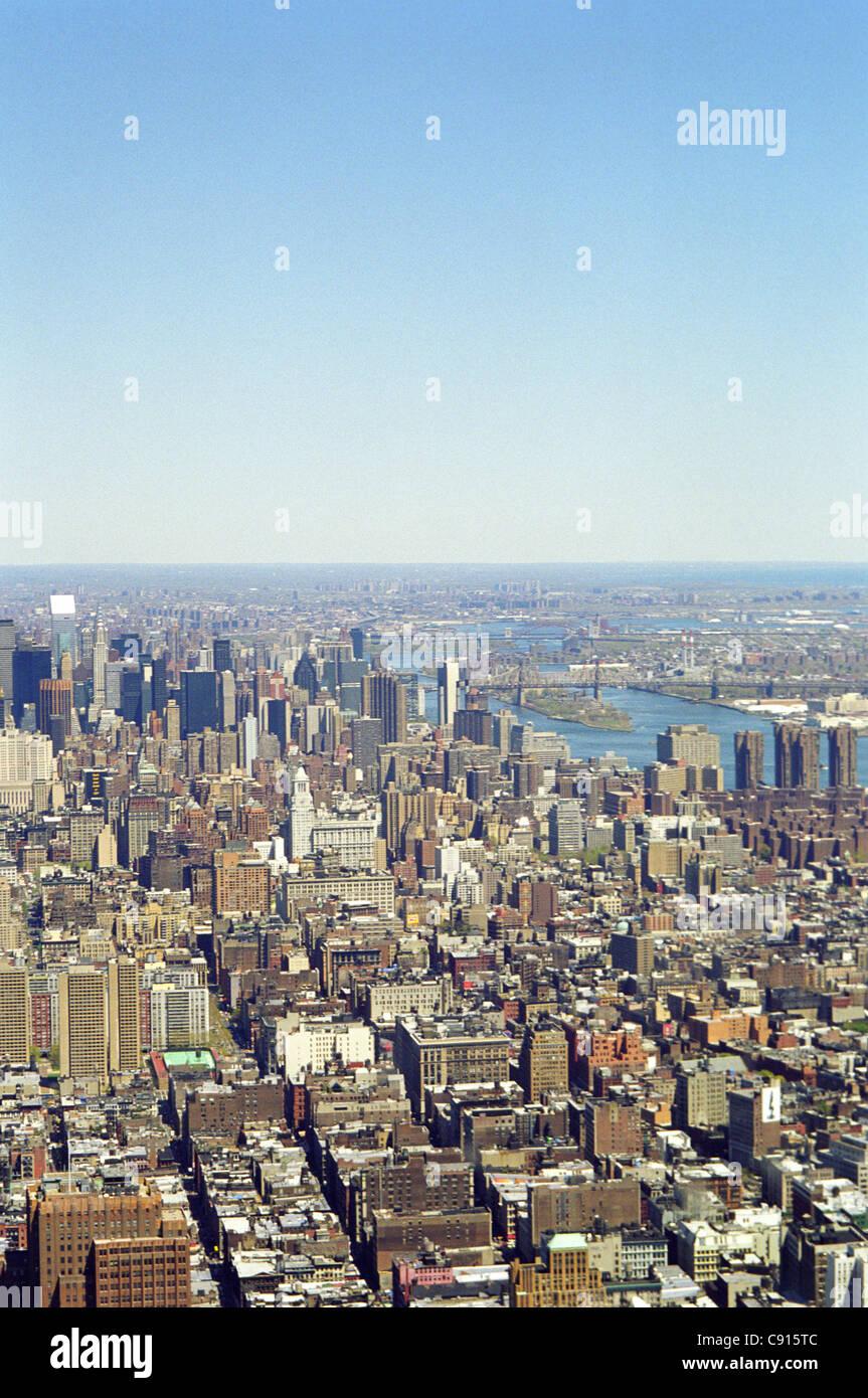 Der beste Weg, wie dicht bebauten Insel von Manhattan in New York City zu schätzen wissen aufgebaut ist, es Stockbild