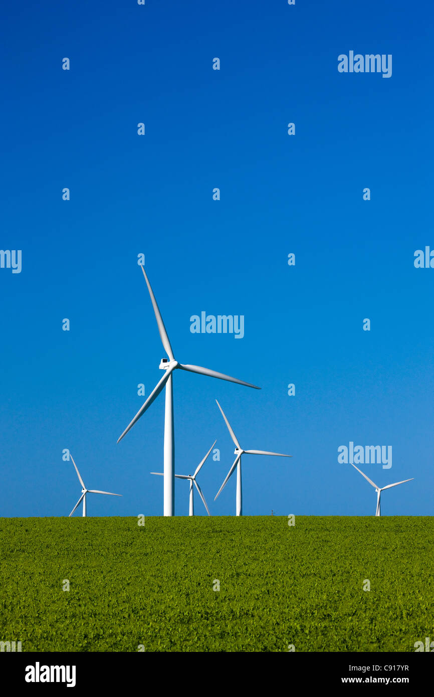 Windkraftanlagen Fleurieu Peninsula South Australia Stockbild