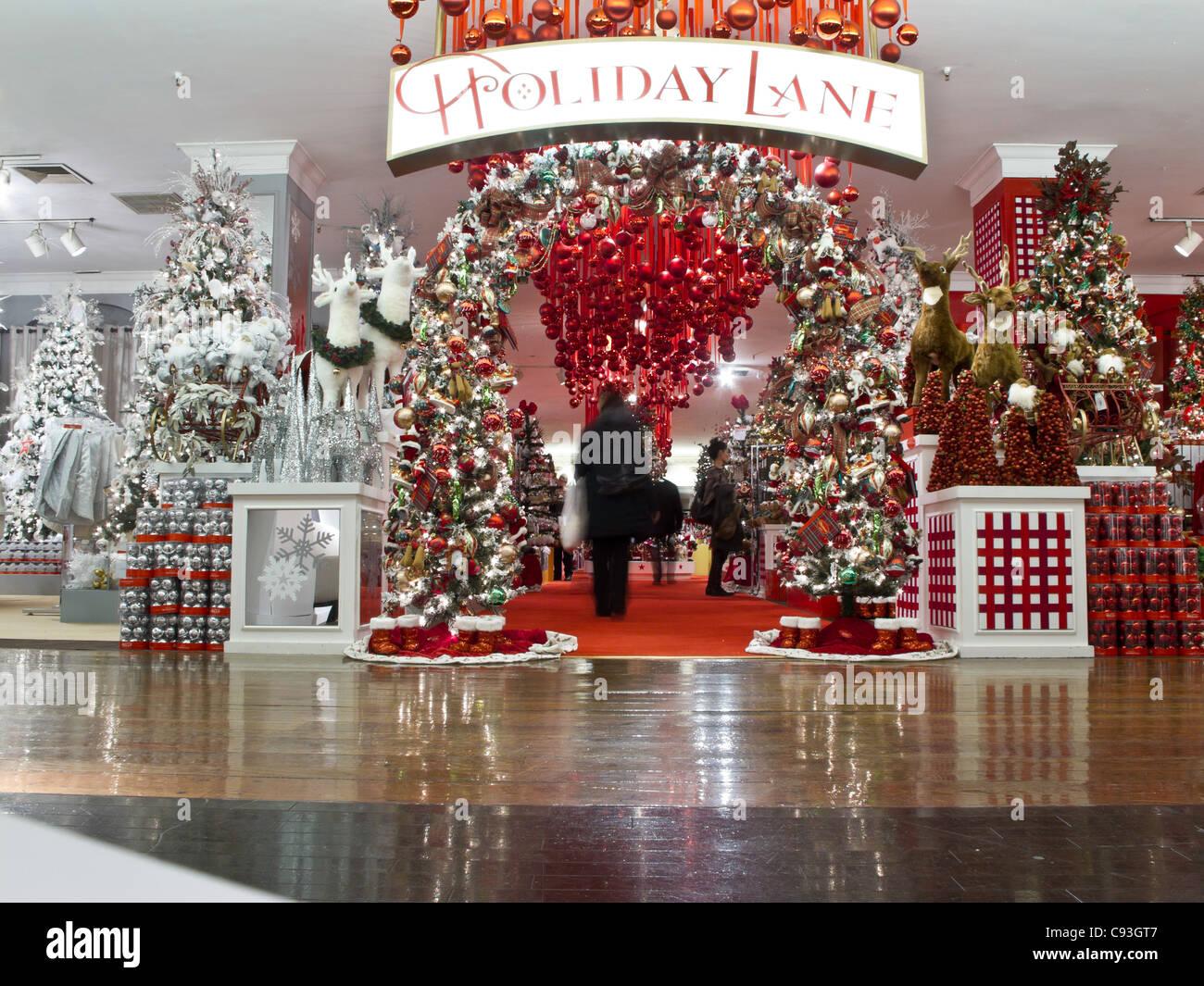Macys Kaufhaus, Weihnachten zeigt, NYC Stockfoto, Bild: 40031719 - Alamy