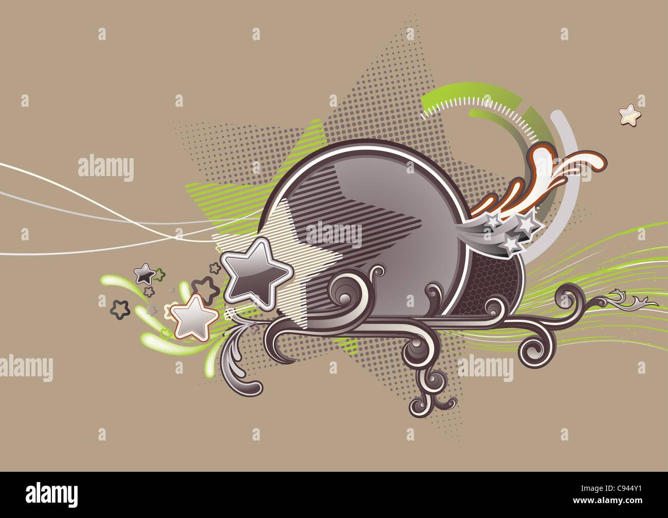 Illustration von Candy bunten Sternen Hintergrund. Stockbild