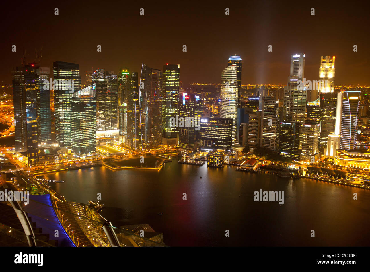 Skyline von Singapur Stockbild