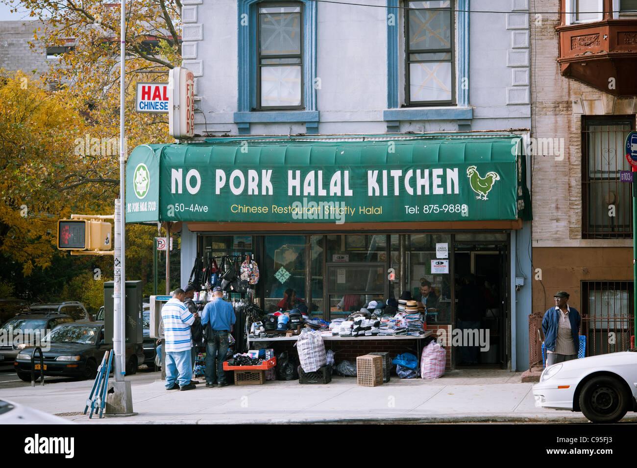 Kein Schweinefleisch Halal Küche chinesisches Restaurant von der ...