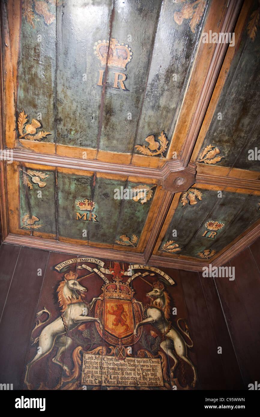 Schottland, Edinburgh, Edinburgh Castle, Royal Palace Wand  Und  Deckengestaltung In Der Geburt Kammer
