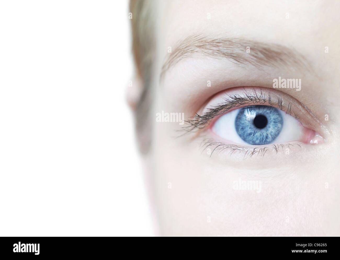 Frau Auge. Stockbild